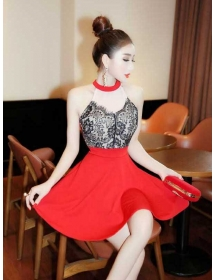 dress pesta import D4265