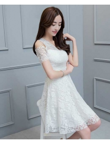 dress brukat korea D4267