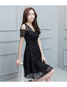 dress brukat korea D4268