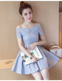 dress polkadot import D4269