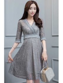 dress brukat korea D4274