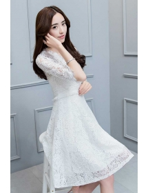 dress brukat korea D4276