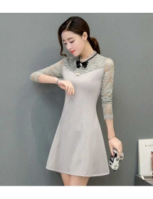 dress wanita korea D4282