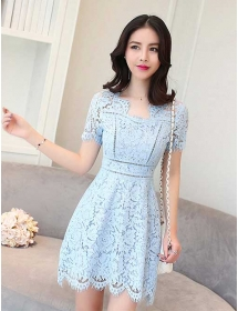 dress brukat korea D4293