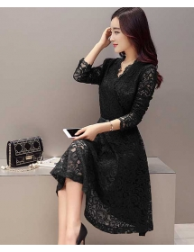 Dress brukat korea D4299