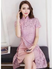 dress cheongsam brukat D4319