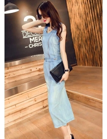 long dress denim D4322