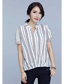blouse v-neck T3813