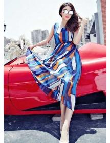 long dress chiffon D4389