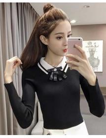 blouse rajut lengan panjang T3885