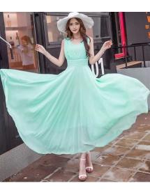 long dress chiffon D4422