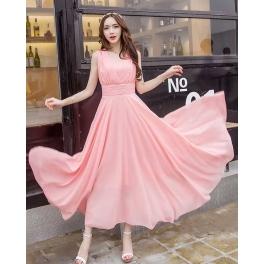 long dress chiffon D4424