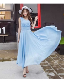 long dress chiffon D4425