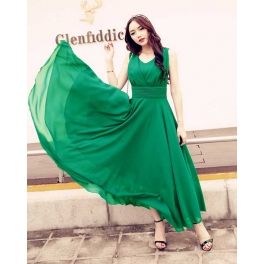 long dress chiffon D4426