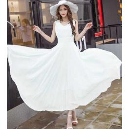 long dress chiffon D4427