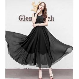 long dress chiffon D4428