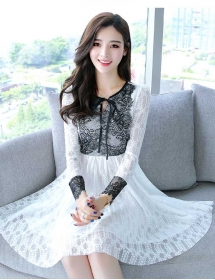 dress brukat korea D4437