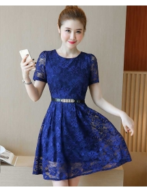 dress brukat korea D4448