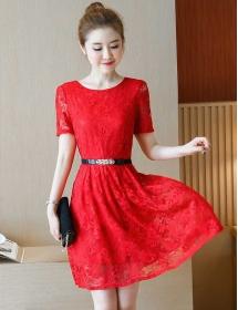 dress brukat korea D4450