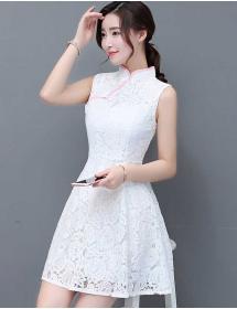 dress cheongsam brukat D4455