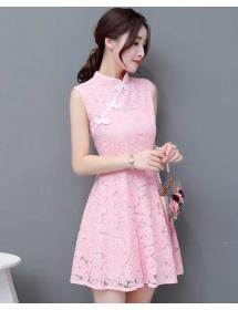 dress cheongsam brukat D4456