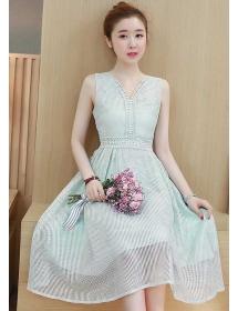 midi dress korea D4459