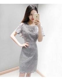 dress brukat korea D4460