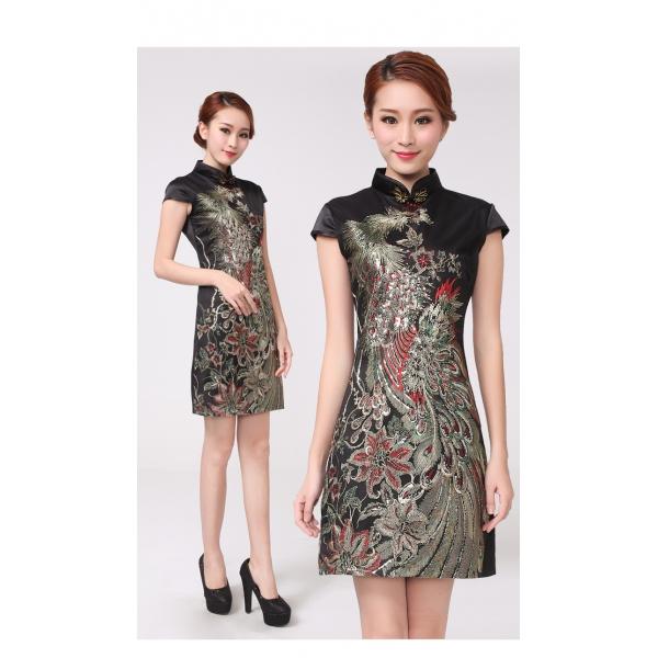 gaun pesta wanita model shanghai d1059